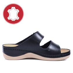 Papuci din piele ortopedici cu gel