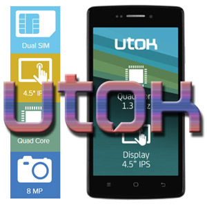 Impresii UTOK Q45 Smartphone Dual Sim Display mare procesor Quad Core