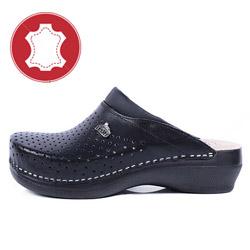 Papuci din piele naturala LEON