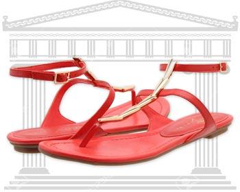 Sandale romane Ivanka Trump Rolly culoare rosie