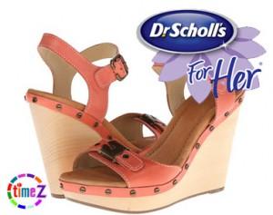 Sandale dama cu platforma Dr. Scholl`s Lucia Sandal portocalii