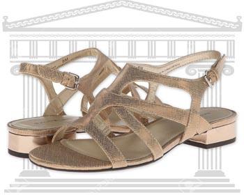 Sandale dama Gladiator Bandolino aurii