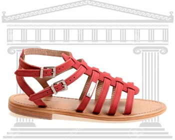Sandale Les Tropeziennes stil roman piele naturala