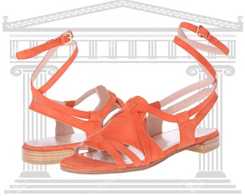 Sandale gladiator Stuart Weitzman Greek portocalii