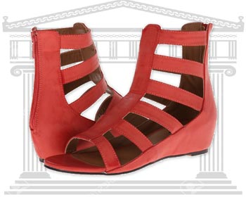 Sandale romane rosii Michael Antonio Aken