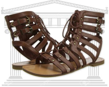 Sandale piele G by Guess Holmes Gladiator