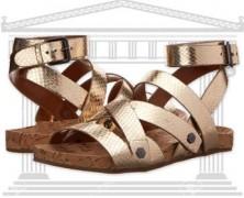Zeci de perechi de Sandale Romane si Gladiator din piele