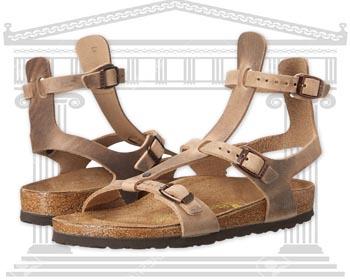 Sandale din piele romane Birkenstock Chania