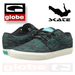 Tenisi din panza moda Skate Globe Mahalo Green