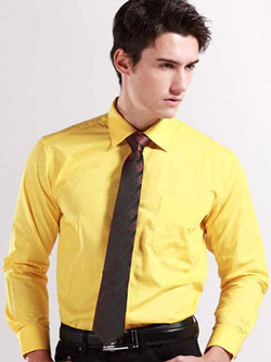 Camasi barbatesti culoare galbena