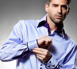 Camasa barbateasca albastra la emag fashion