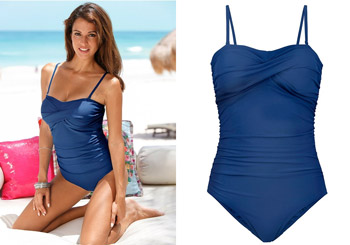 Costume de baie modelatoare la preturi mici - BPC albastru