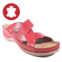 Papuci si saboti din piele cu gel in talpa pentru un mers natural