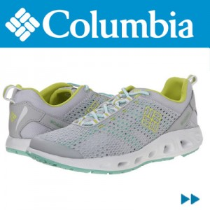 Adidasi dama Columbia Drainmaker III Grey Fresh Kiwi