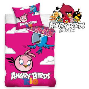 Lenjerie de pat Rio Angry Birds 160 x 200 cm
