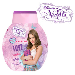 Gel de dus si sampon 2 in 1 Violetta Love, 250 ml. Gel de dus si sampon de par, cu un parfum de fructe combinat cu arome florale.
