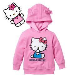 Hanorac cu gluga pentru fetite Hello Kitty