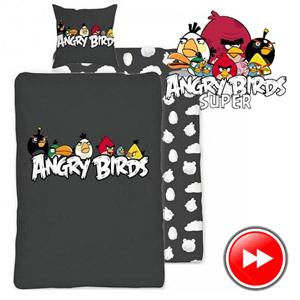 Lenjerie de pat Angry Birds 140x200 cm