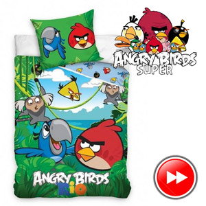 Lenjerie de pat Angry Birds pentru copii