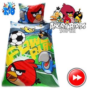 Lenjerie de pat Angry Birds Rio 2 140 x 200 cm