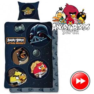 Lenjerie de pat Angry Birds Star Wars 140 x 200 cm