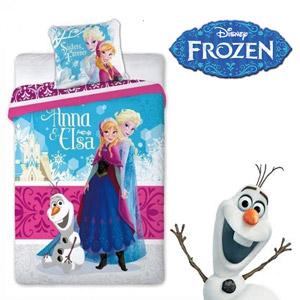 Lenjerie de pat Disney Frozen Anna si Elsa 160 x 200 cm