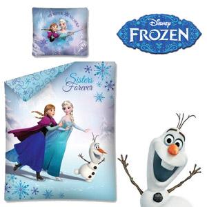 Lenjerie de pat Disney Frozen Sisters Forever 160 x 200 cm. Setul contine husa pilota 160/200 cm si husa perna 70/80 cm. Material: 100 % bumbac natural. Lenjeria se spala la 40°.