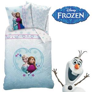Lenjerie de pat Disney Frozen Winter Story Anna si Elsa Regatul de Gheata.