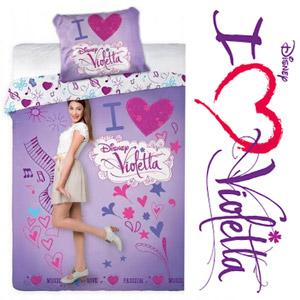Lenjerie de pat Disney I Love Violetta 140 x 200 cm