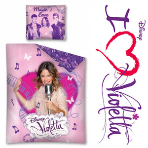Lenjerie de pat Disney Violetta Music 160 x 200 cm bumbac calitate