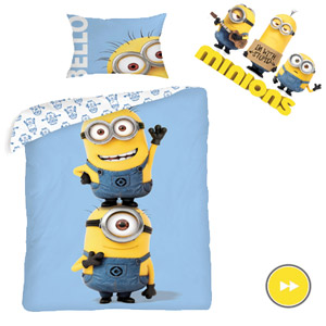 Lenjerie de pat Minions Friends, din bumbac natural