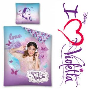Lenjerie de pat pentru fetite Disney Violetta Love 140x200cm