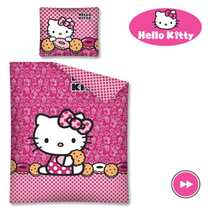 Lenjerie de pat pentru fetite Hello Kitty 160x200 cm