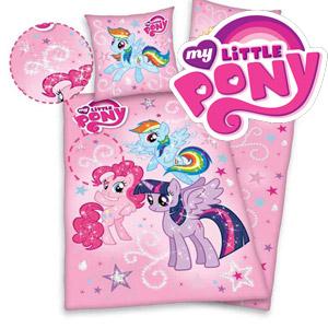 Lenjerie pat pentru copii din bumbac 3 piese My little pony