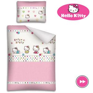 Lenjerie patut bebelusi Hello Kitty