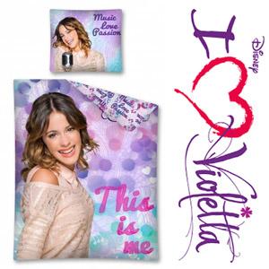 Lenjerie de pat Disney Violetta pentru fetite 140 x 200 cm