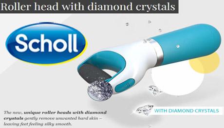 Pila electrica cu cristale diamant Dr Scholl Velvet Smooth Express Pedi