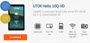 Review Tableta UTOK Hello 3G GSM 10Q HD