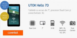 Review Tablete UTOK Hello 3G GSM 7D
