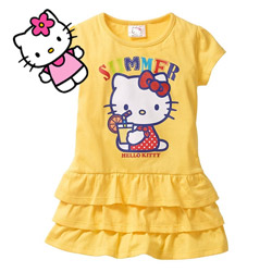 Rochita Hello Kitty pentru fetite 5-6 7-8 ani
