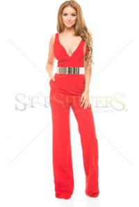 Salopeta de vara Artista Being Fashion Red Rosie
