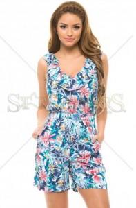 Salopeta de vara cu pantaloni scurti LaDonna Happy Woman Blue
