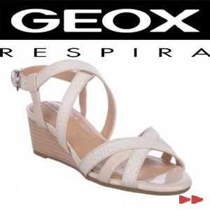 Sandale GEOX albe, din piele naturala
