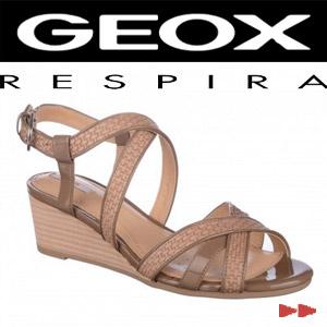 Sandale GEOX bej din piele naturala