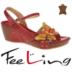 Sandale casual cu platforma Feeling din piele