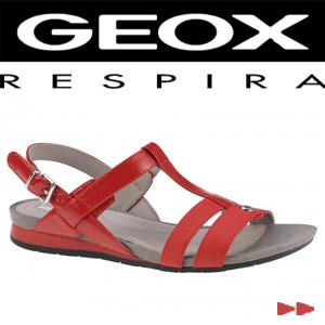Sandale casual dama Geox Formosa cherry rosii