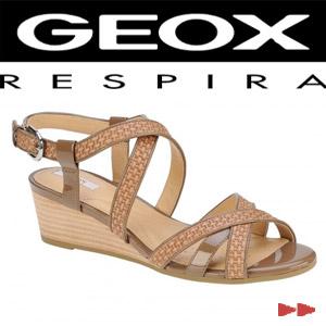 Sandale casual dama Geox Lupe Woven Lea bej