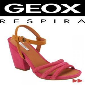 Sandale dama Geox Fuchsia piele intoarsa Biscuit