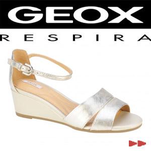 Sandale dama Geox Lupe Pol Sheep Lea alb
