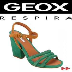 Sandale dama Geox Verde smarald piele intoarsa